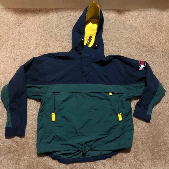 20d2c07eb Vtg TOMMY HILFIGER ColorBlock Pullover Jacket. M_5a904280a44dbe1f01115db6
